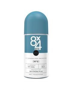 8X4 Deodorant roller men no 0 anti-perspirant 50ml