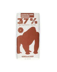 Chocolate Makers Gorilla bar 37% melk 90g