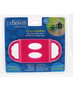 DR Brown's Siliconen handvat voor brede hals roze 1st