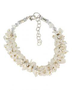 Splitarmband cluster bergkristal