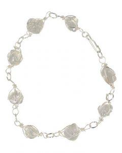 Armband/enkelband bergkristal edelsteen wire