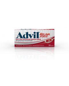 Advil reliva 400 mg ovaal blister UAD