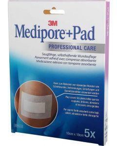 3M Medipore 10 x 10 cm zelfklevend wonderband 5st