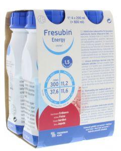 Energy drink aardbei 200 ml