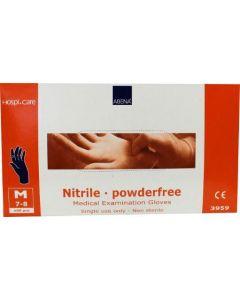 Handschoen nitril maat 7-8 medium