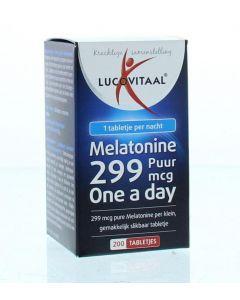 Lucovitaal Melatonine puur 0.299 mg 200tb