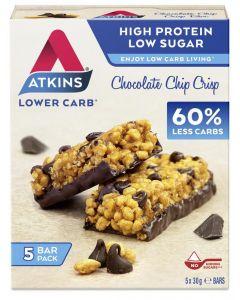 Atkins Chocolate chip crisp reep 30 gram 5x30g