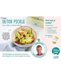 Receptkaart A6 detox pickel
