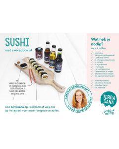 Terrasana Receptkaart A5 sushi 50st