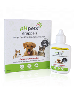pHpets ontzuringsdruppels voor huisdier 40 ml
