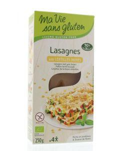 Lasagne gele linzen bio