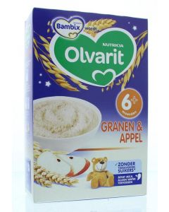 Olvarit Granen & appel 6M+ 250g