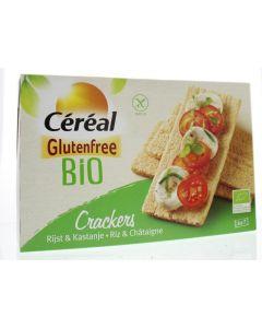 Cracker rijst kastanje bio