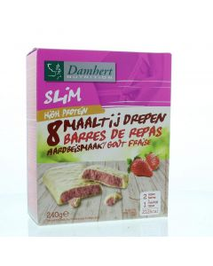 Damhert Afslank proteinereep witte chocolade & aardbei 240 gram