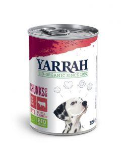 Hond brok rund in saus