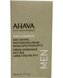 Ahava Men age control moisterizer SPF 15 50 ml
