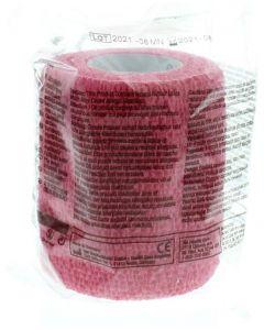 Coban zelfklevende zwachtel rood 7.5 cm x 4.5 m
