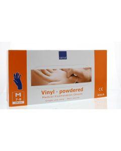 Abena Handschoen vinyl poeder blauw M 100st