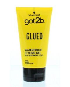 Glued styling gel