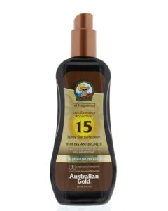 Spray gel met bronzer SPF15