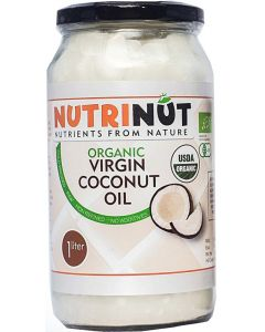 Nutrinut Kokosolie virgin bio in glas 1000ml