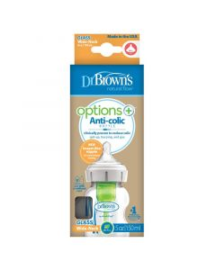Dr Brown's Options+ brede halsfles glas 150 ml 1st