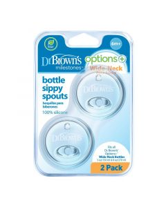 Dr Brown's Options+ sippy spout brede halsfles 2st
