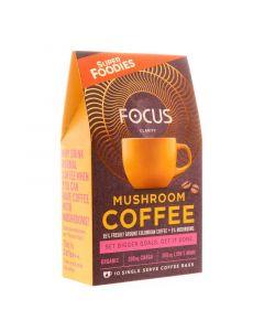 Mushroom coffee focus 10 gram zakjes