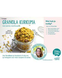 Receptkaart A6 Granola Curcuma