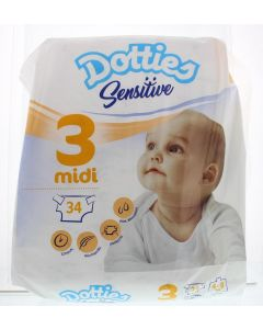 Dotties Sensitive baby luiers midi 3 34st