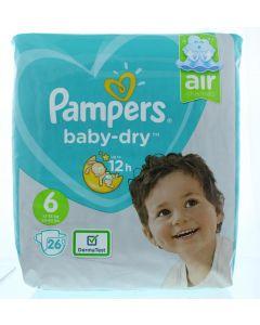 Pampers Baby dry luiers S6 midpak+ 26st