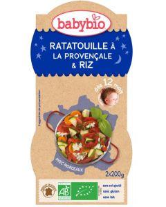 Babybio Babybio ratatouille met rijst 2x200g