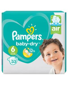 Pampers Baby dry S6 valuepack 33st