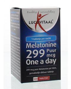 Lucovitaal Melatonine puur 0.299 mg 500tb
