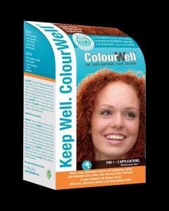100% natuurlijke haarkleur koper rood