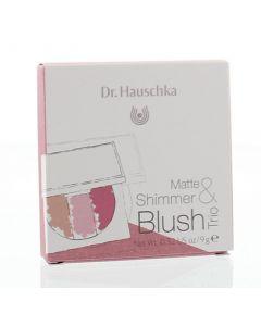 Hauschka Matte & shimmer blush trio limited 9g