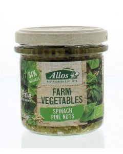 Farm vegetables spinazie & pijnboompitten