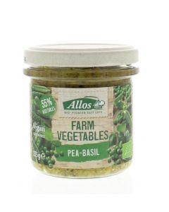 Farm vegetables doperwten & basilicum