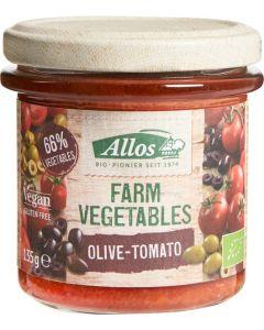 Allos Farm vegetables tomaat & olijf 135g