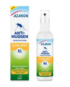Azaron Anti muggen 9.5% deet spray 100ml