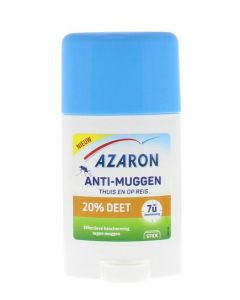 Azaron Anti muggen 20% deet stick 50ml