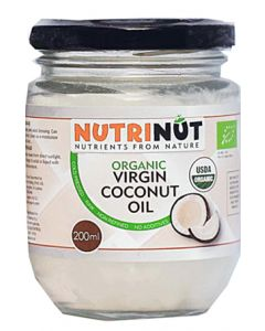Nutrinut Kokosolie virgin bio in glas 200ml