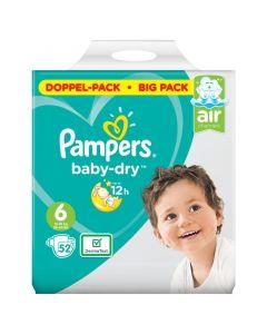 Pampers Baby dry luiers maat 6 doppelpack 52st