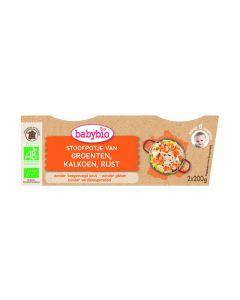 Babybio Groenten kalkoen rijst 8 maanden 200 g 2x200g