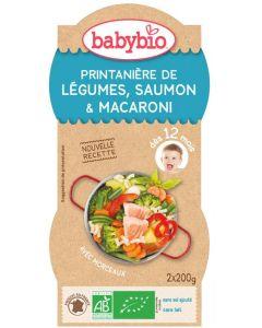 Babybio Groenten zalm pasta 12 maanden 200 gram 2x200g