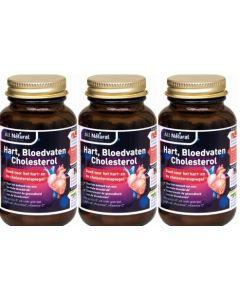 All Natural Hart Bloedvaten Cholesterol trio-pak  3x 90 capsules