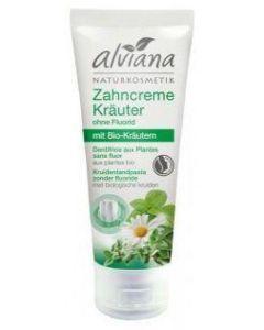 Alviana Kruiden Tandpasta zonder fluoride 75 ml