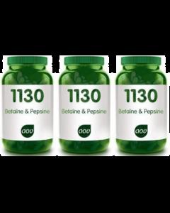 AOV 1130 Betaine & Pepsine 3x 60 capsules