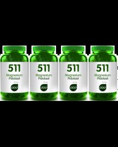 AOV 511 Magnesium Pidolaat 35mg 4x90 capsules