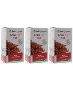 Arkocaps Rode Gist Rijst trio-pak 3x 150 capsules (Arkopharma)